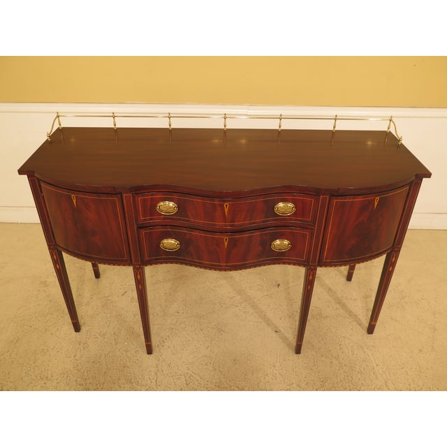 C.1999 Details: #29 Finish Model 2367A Mahogany High Quality Construction Nice Inlay Work Throughout 18 C. Design Federal...