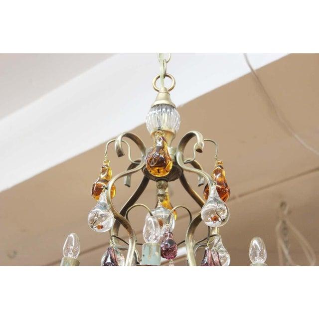 Mid-Century Modern 1950s Italian Mid Century Modern Murano Glass Fruit Chandelier For Sale - Image 3 of 13