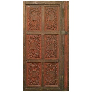 French 19th Century Louis XVI Style Hand-Carved Door For Sale