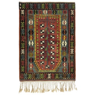 Vintage Esme Kilim | 3'6 X 4'11 For Sale