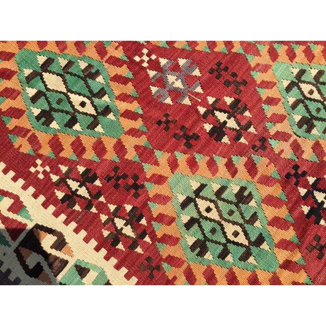 Vintage Turkish Kilim Rug For Sale - Image 4 of 12