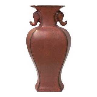 Chinese Ru Ware Pink Crackle Ceramic Urn Jar Vase Display For Sale
