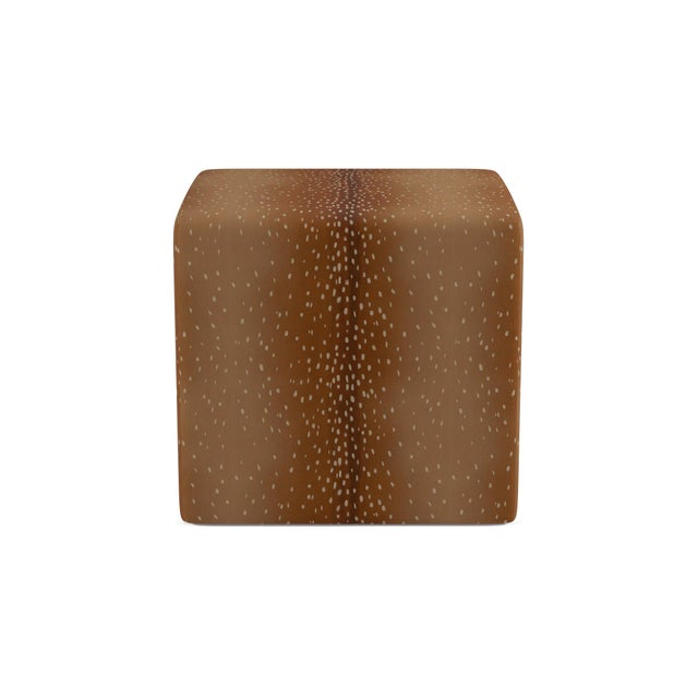 The Inside Cube Ottoman in Antelope For Sale - Image 4 of 4