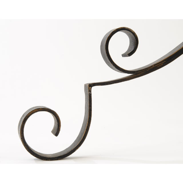 French Industrial Style Iron Hat and Coat Stand - Image 4 of 5
