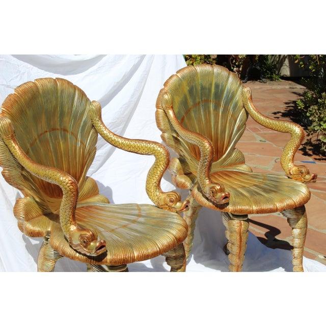 Neat pair of Venetian Grotto chairs. 20th century. Italian