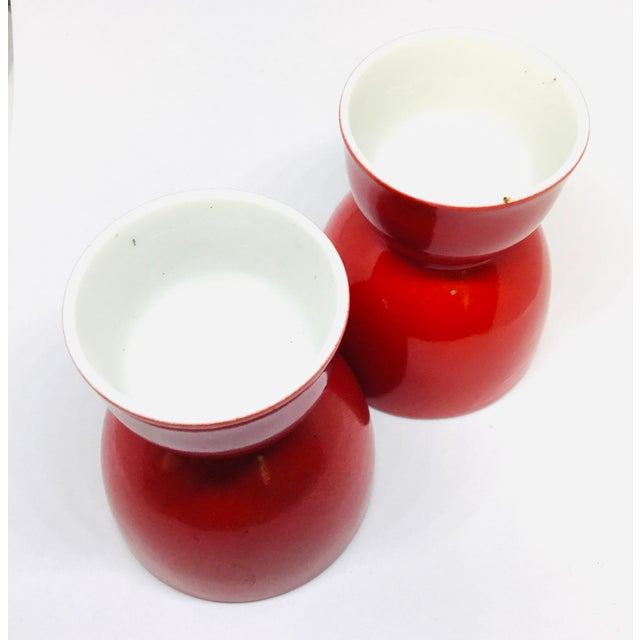 Antique Chinese Porcelain Wine Cups a Pair For Sale - Image 4 of 8