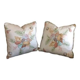 BRUNSCHWEIG and FILS and RL Tropical Print Pillows - a Pair For Sale