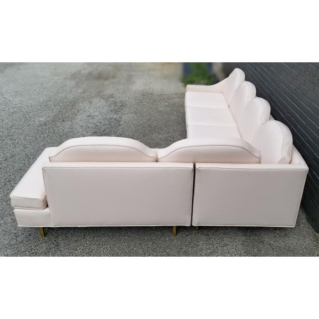 """Gold Kipp Stewart and Stewart McDougall Mid-Century Modern """"Suncoast"""" Sectional Sofa For Sale - Image 8 of 13"""