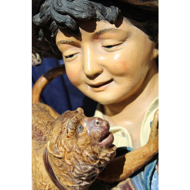 Late 19th C. Bruders Urbach Earthenware Sculpture For Sale - Image 11 of 12