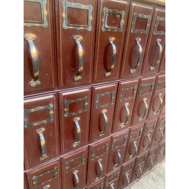 Mid 20th Century Vintage Industrial File Cabinet For Sale - Image 4 of 11