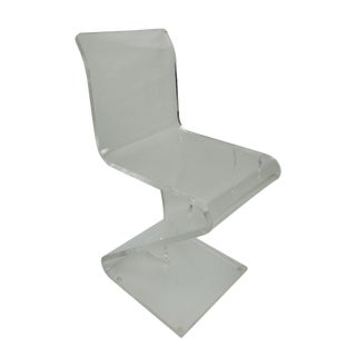 1970s Vintage Lucite Cantilever Accent Chair For Sale