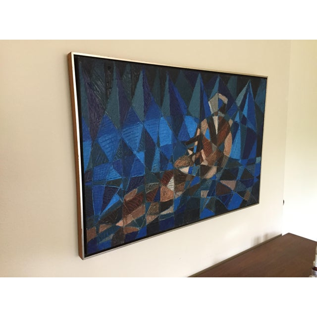 Mid Century Modern Original Figural Abstract Painting