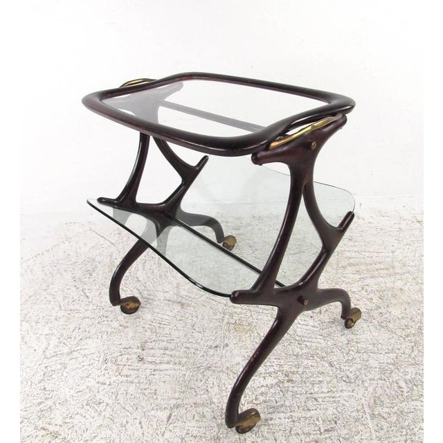 Cesare Lacca Italian Side Table Magazine Rack - Image 2 of 11