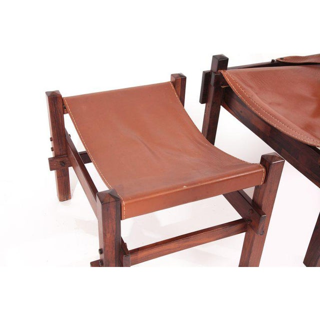 1960s Rare Jorge Zalszupin Chair and Ottoman For Sale - Image 5 of 8