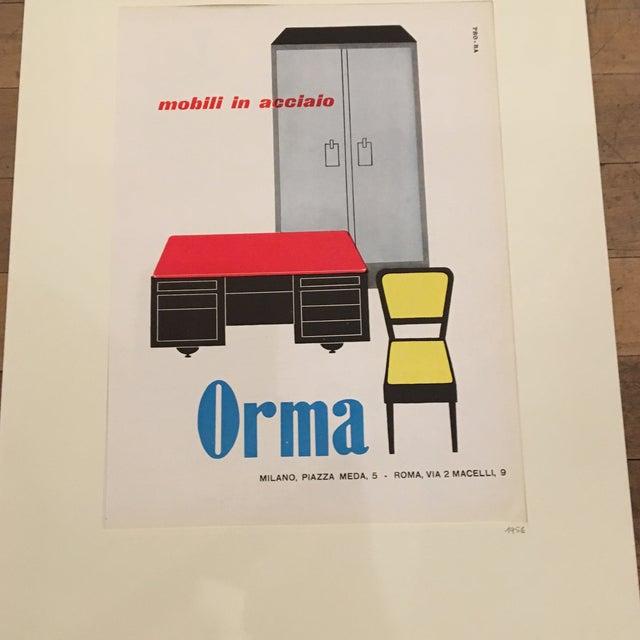 Italian Mid-Century Advertising Print - Image 3 of 3