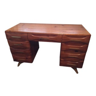 Mid-Century Modern Franklin Shockey Pine Desk For Sale