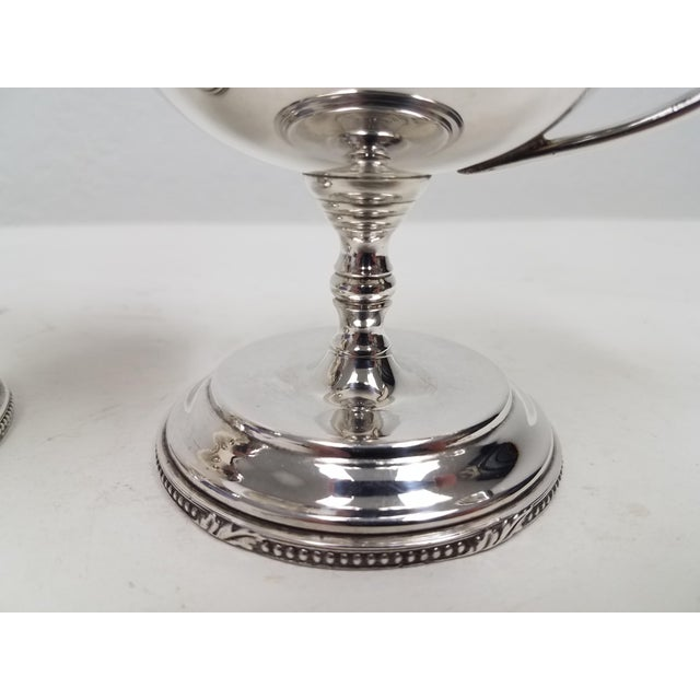 English Antique English Mappin and Webb Silverplate Sorbet Dessert Cups - a Pair For Sale - Image 3 of 6