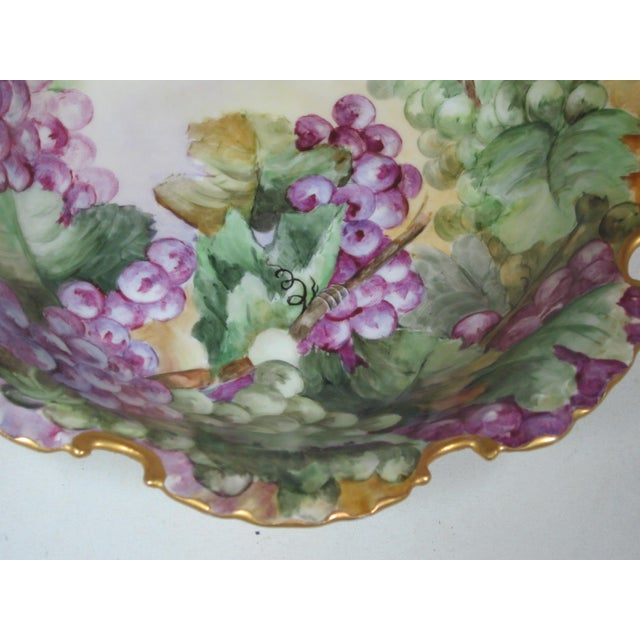 Rosenthal Antique Rosenthal Bavarian Hand Painted Grape Bowl For Sale - Image 4 of 7