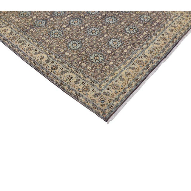 Textile Vintage Persian Moud Mood Rug For Sale - Image 7 of 9