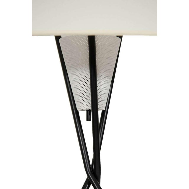 Mid-Century Modern Gerald Thurston for Lightolier Tripod Table Lamps For Sale - Image 3 of 5