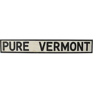 Pure Vermont Sign For Sale