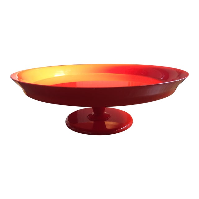 Serena & Lily Flame Pedestal Tray - Image 1 of 10