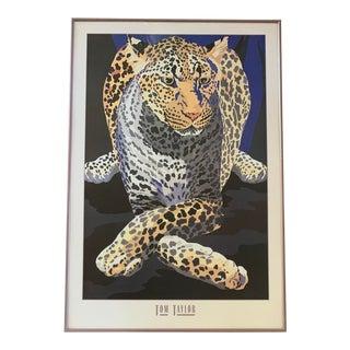 1990s Tom Taylor Cheetah Poster, Framed For Sale