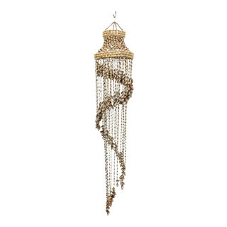 Vintage Hanging Seashell Chandelier For Sale