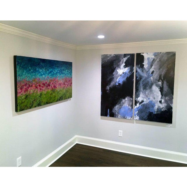 Europa 24 & 25 is an abstract diptych, acrylic on wood panel, by California artist, Stephanie Cate. It is 52x54. It is...