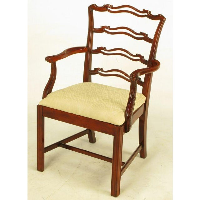 Six Ribbon Back Chippendale Dining Chairs - Image 5 of 10