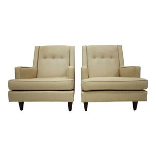 """Pair of Dunbar High Back """"Mr."""" Lounge Chairs by Edward Wormley For Sale"""