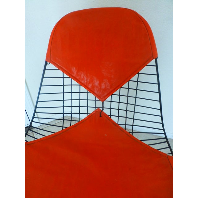 Mid-Century Eames Wire Orange Bikini Chair | Chairish