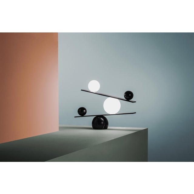2010s Balance Brass Table Lamp by Victor Castanera For Sale - Image 5 of 9