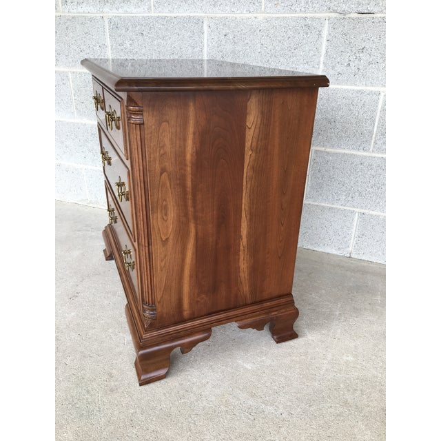 Chippendale Stickley Cherry Valley Chippendale Style 3 Drawer Nightstand For Sale - Image 3 of 9