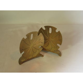 Solid Brass Sand Dollar Bookends - A Pair Preview