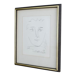 "Mid 20th Century Vintage ""Pour Robie"" Picasso Lithograph For Sale"