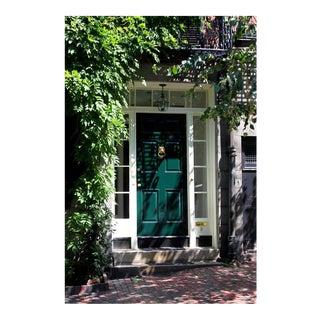 Green Door in Beacon Hill Photo For Sale