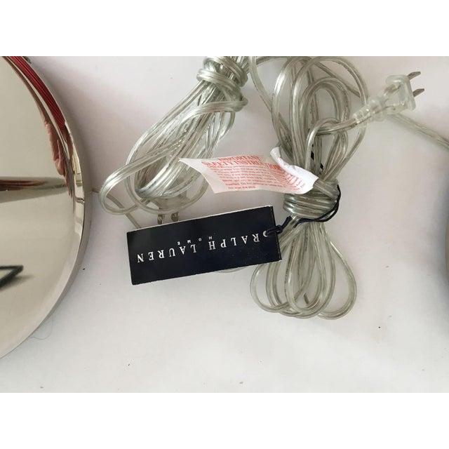 Ralph Lauren Polished Nickel Floor Lamps - A Pair - Image 5 of 10