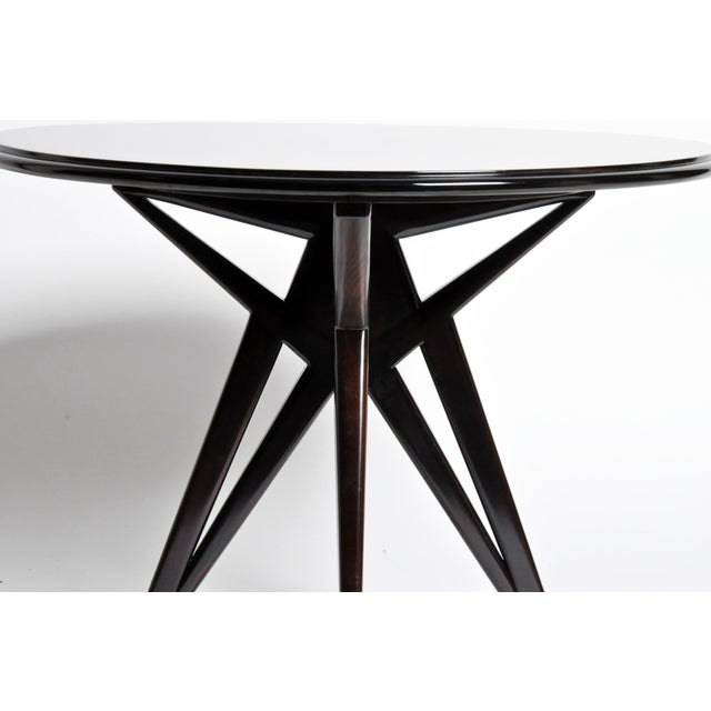 Mid-Century Veneer Top French Table For Sale In Chicago - Image 6 of 11