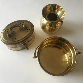 1980's Vintage Solid Brass Containers - Set of 3 Preview