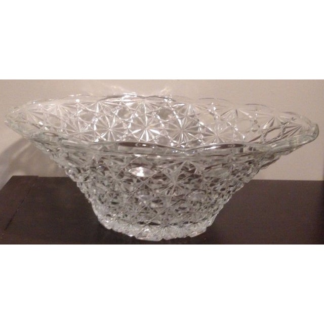 Vintage Cut lead Crystal Bowl. Will make a gorgeous addition to any tablescape. diameter 10 1/4 in 4 in tall WGHT: 2 1/2 lbs