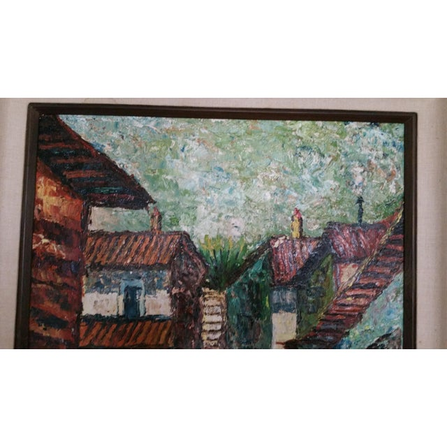 Mid-Century Impressionist Cityscape Oil Painting - Image 3 of 8