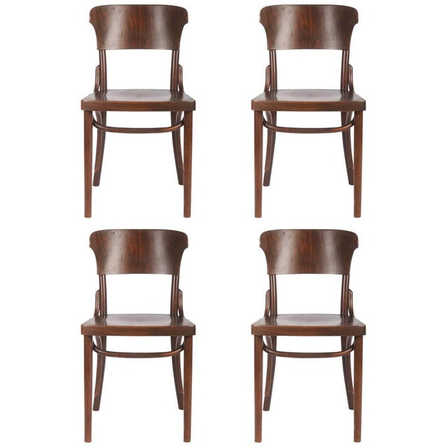 Bentwood Chairs by Thonet, 1930s - Set of 4 For Sale - Image 9 of 9
