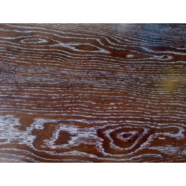 Paul Marra Ceruse Oak Two-Tier Nightstand For Sale - Image 10 of 10