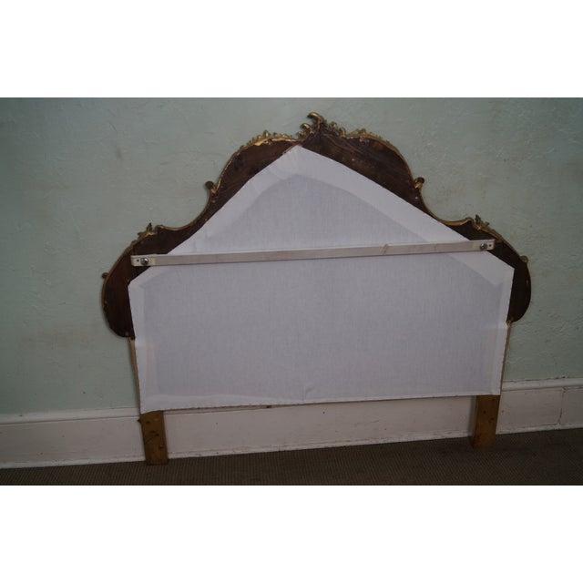 Vintage Italian Gilt Wood Rococo Queen Headboard - Image 3 of 10