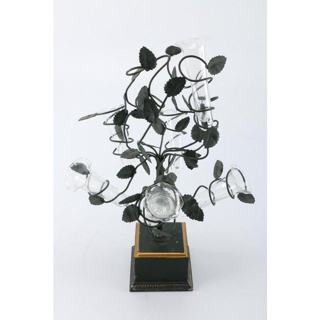 Italian Tole Tree Epergnes - A Pair For Sale - Image 10 of 10