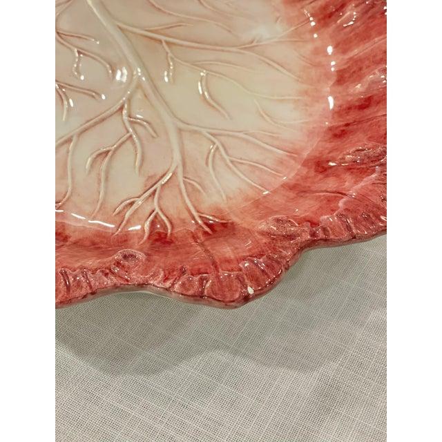 Late 20th Century Vintage Este Ceramiche for Bergdorf Goodman Cabbage Platter For Sale In Dallas - Image 6 of 8