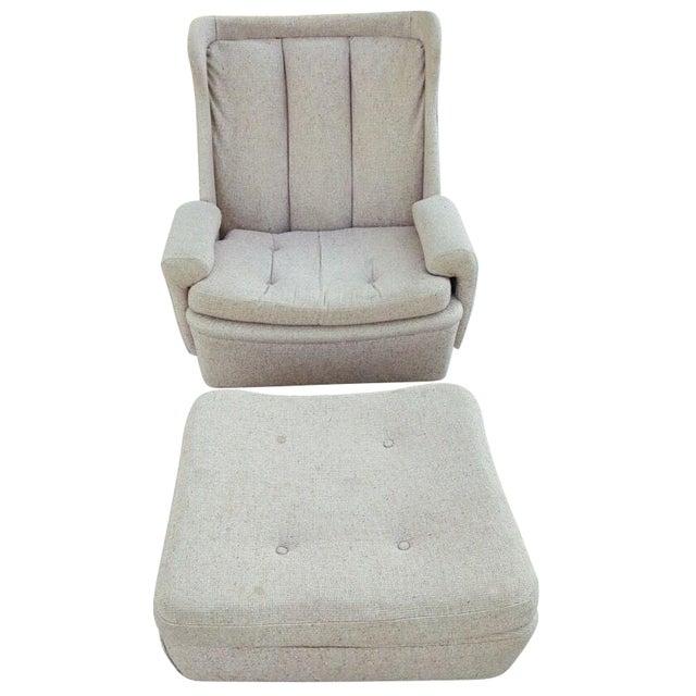 W & J Sloane Mid-Century Chair & Ottoman For Sale