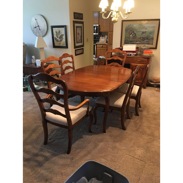 1980s Ethan Allen French Country Dining Set - 7 Pieces For Sale - Image 5 of 12