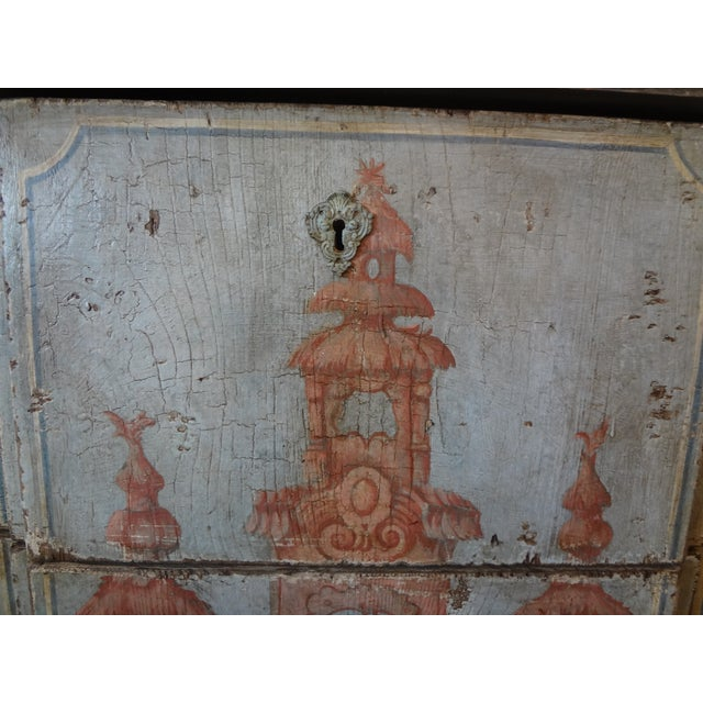 Late 19th Century 19th Century Italian Painted Commode For Sale - Image 5 of 11